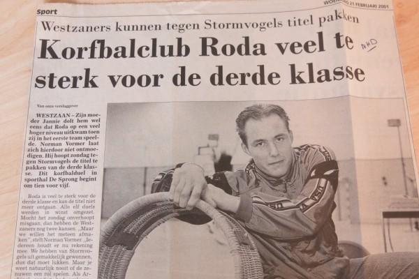 Norman Vormer in gesprek met het Noordhollands Dagblad