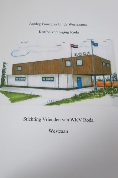 De brochure die door de Stichting Vrienden van WKV Roda gemaakt is om sponsors te interesseren voor het investeren in een jeugdveld voor Roda.