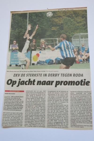 """1 Maal winst en 2 maal verlies tegen ZKV in 2009. Uiteindelijk wordt Roda wel """"Herbstmeister"""" eind 2009 maar daarmee ben je nog geen kampioen."""