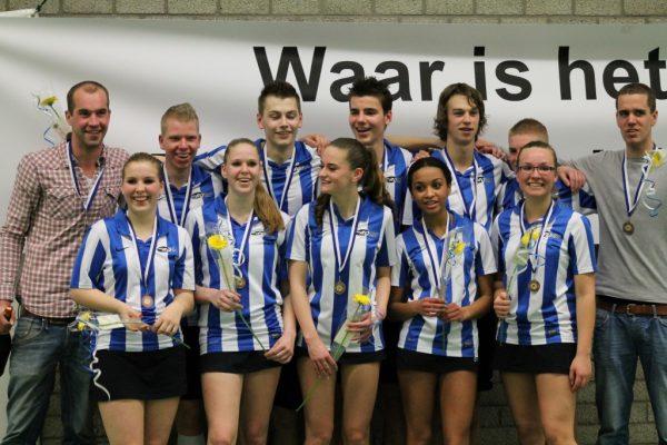 Roda A1 werd kampioen door in een beslissingswedstrijd met 11-10 van ZKV A1 te winnen.