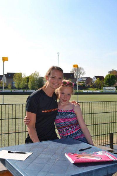 Marjolijn Kroon met Amy op de foto