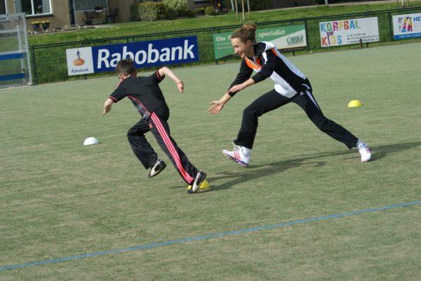Jet Hendriks bij Roda in actie