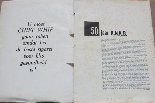 Uit het Jubileumboek bij het 50 jarig bestaan van de Nederlandse Korfbalbond in 1953 (CHIEF WHIP was toen een bekend sigarettenmerk, red.)